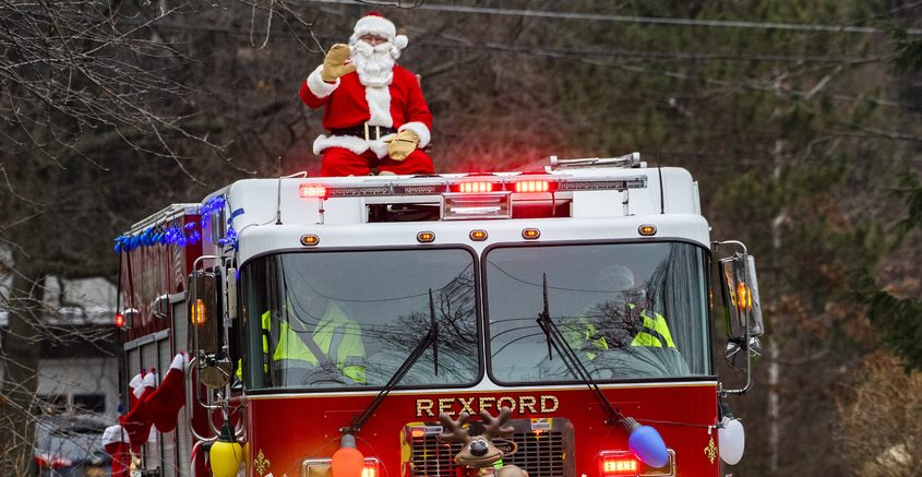 The Rexford Volunteer Fire Department and Santa Saturday
