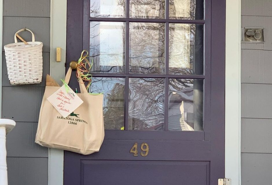 A Porch Package from Impressions of Saratoga awaits a homeowner.