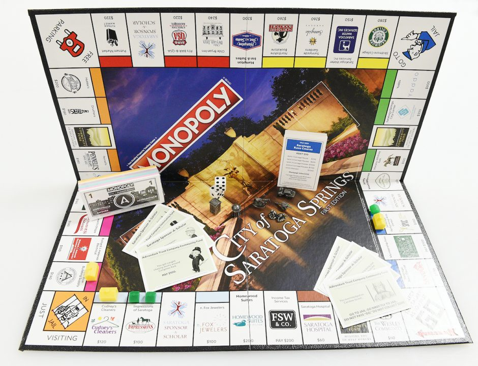 City of Saratoga Springs Monopoly, First Edition.