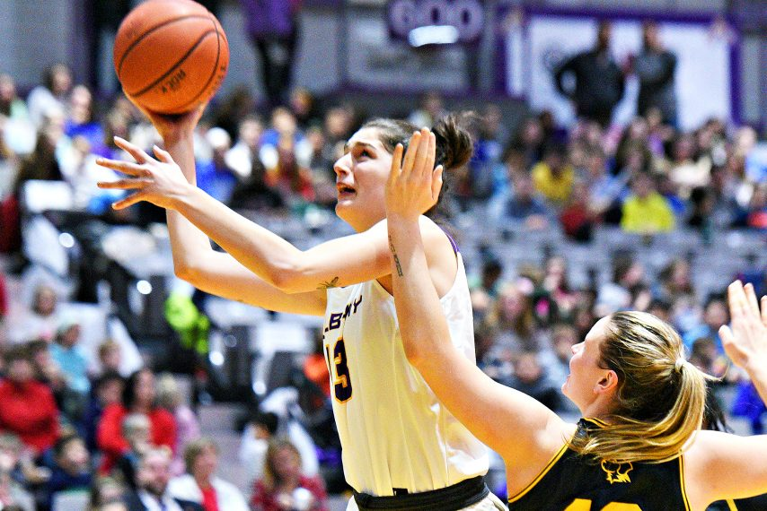 Lucia Decortes had 11 points for UAlbany in Tuesday's defeat. (Gazette file photo)