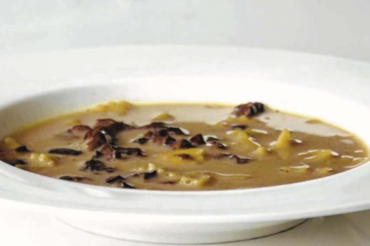 Mushroom soup was always a part of Christmas Eve celebrations for the writer.