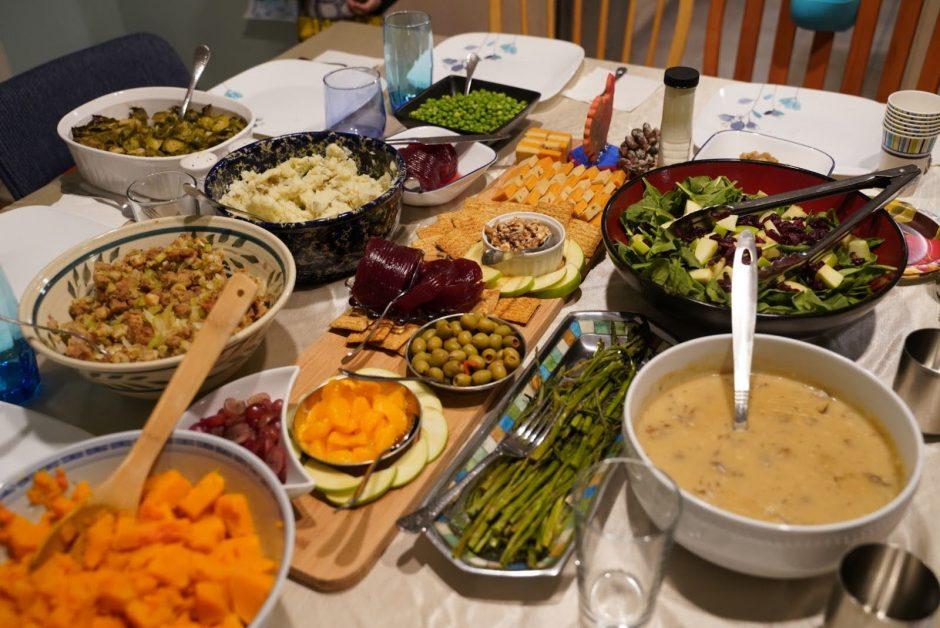 Claire Henderson's vegan Thanksgiving dinner.
