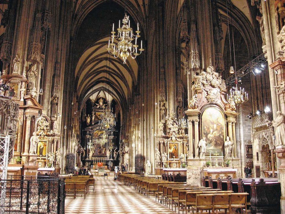 For Ken Moore of Schenectady, Christmas Eve in 1968 included a Mass at St. Stephen's Cathedral in Vienna. Moore had been studying abroad for the semester.