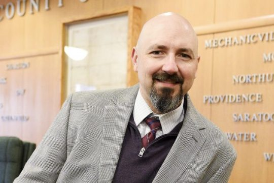 Newly appointed Saratoga County Public Works Commissioner Chad CookeTuesday