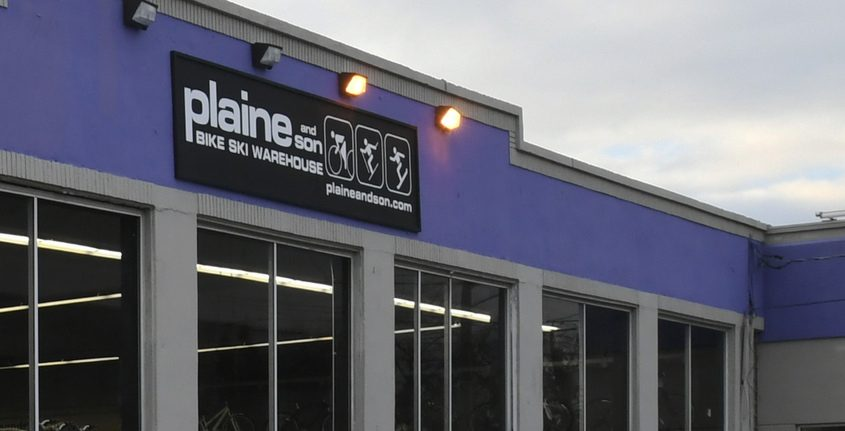 Plaine and Sons Bike Ski Warehouse in January 2019. File