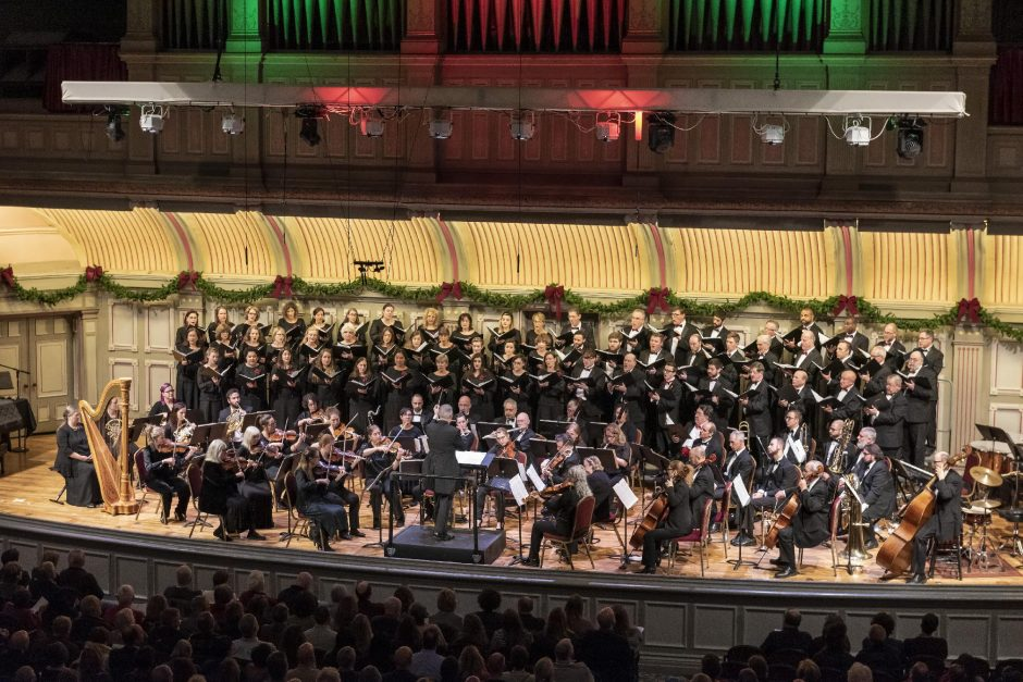 """Albany Pro Musica's """"Many Moods of Christmas"""" concert last year at Troy Savings Bank Music Hall. This year, the group presents """"The Best of the Many Moods of Christmas"""" through its website. (Gary Gold)"""