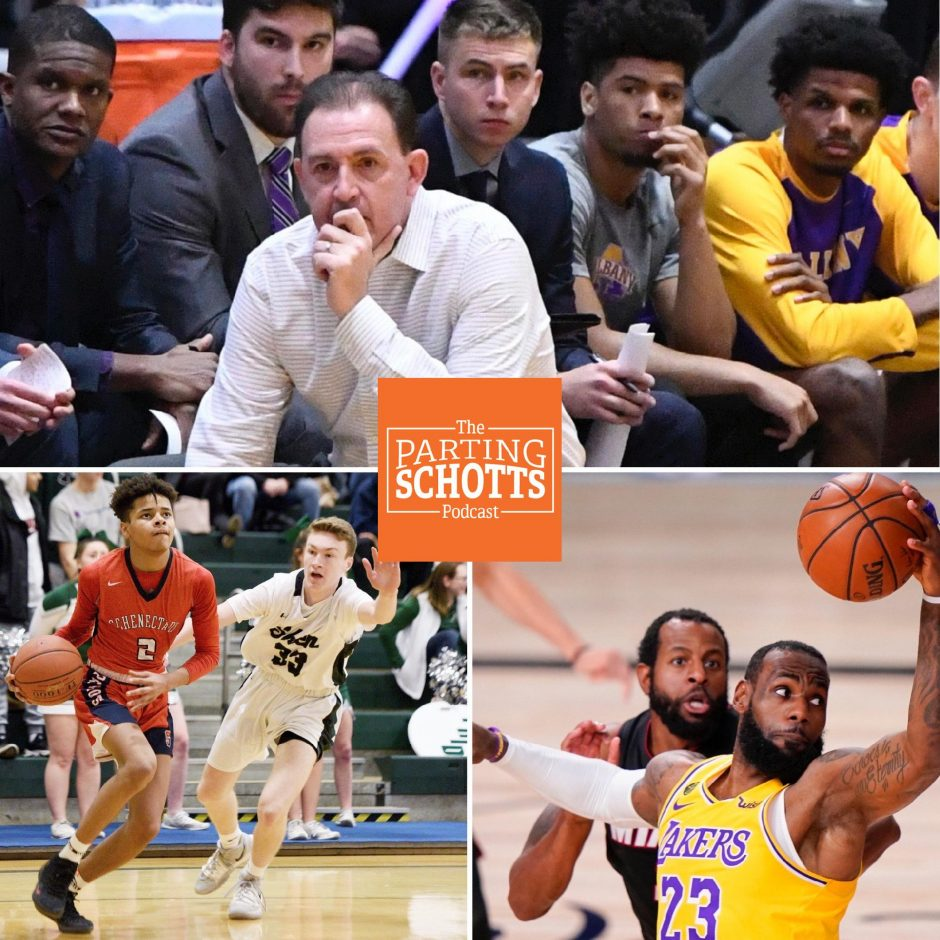 "UAlbany men's basketball, high school state winter sports and the NBA are the topics on ""The Parting Schotts Podcast."""