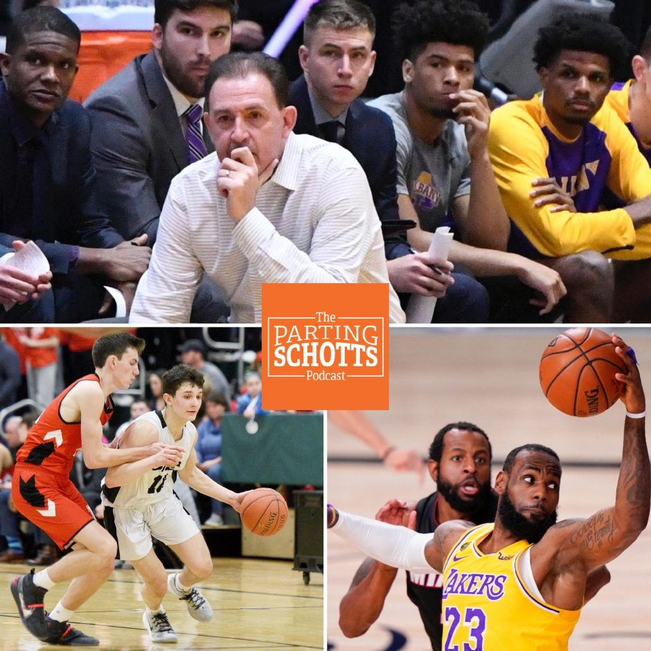 "The start of the UAlbany men's basketball season, the cancellation of the state winter high school sports championships and the NBA beginning are the topics on the final ""The Parting Schotts Podcast"" before Christmas."