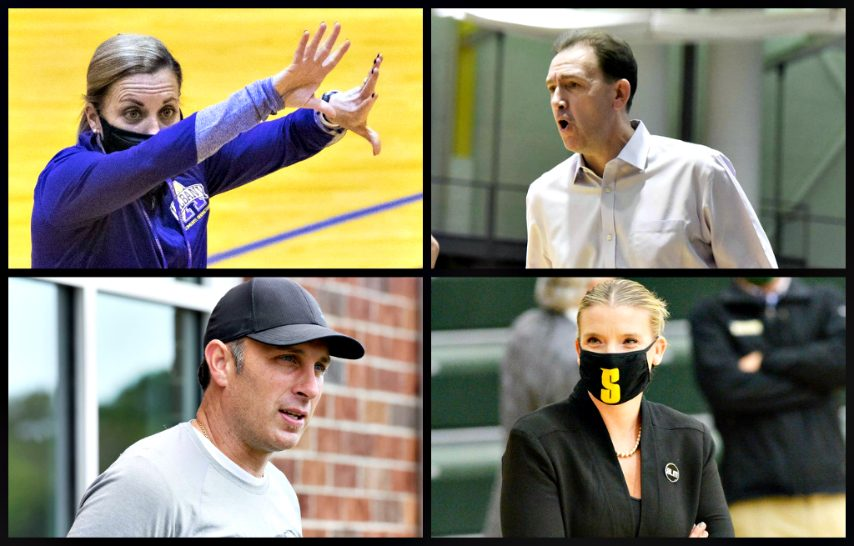 The area's four Division I basketball coaches are shown. (Gazette file photos)