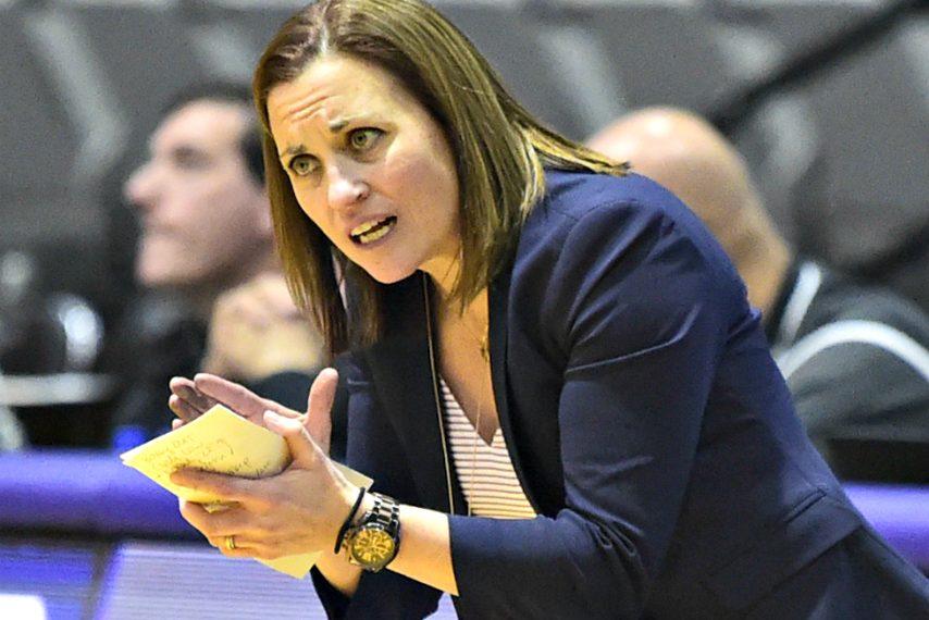 UAlbany women's basketball coach Colleen Mullen.