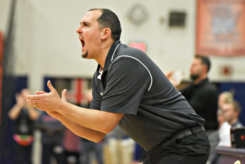 Schenectady boys' basketball head coach John Miller is shown during a past season's game. (Gazette file photo)