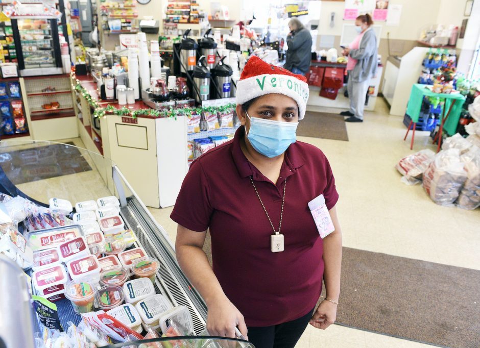 Shift Supervisor Veronica Ramgadoo, of Schenectady, at her store on Van Vranken where she has worked for the past 11 years, and during COVID, in Schenectady on Tuesday, December 8, 2020.