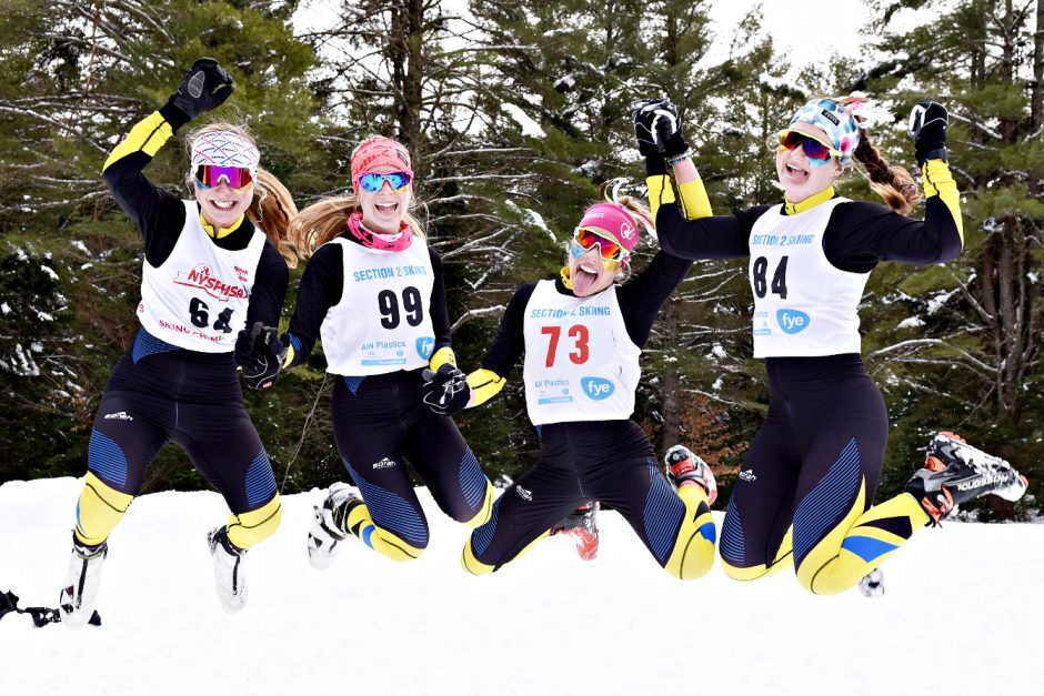 Mayfield skiers are shown after last season's Nordic championships. (Gazette file photo)