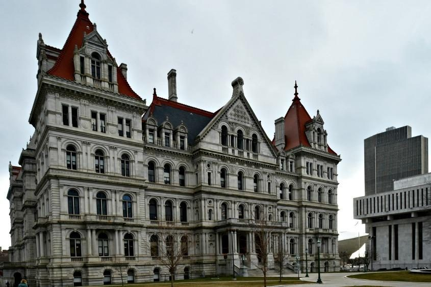 The state Capitol Building in Albany.