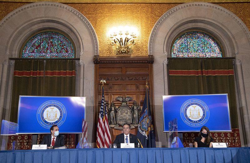 Governor Andrew M. Cuomo provides a coronavirus update from the Red Room at the State Capitol.