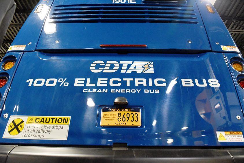 A CDTA electric bus.
