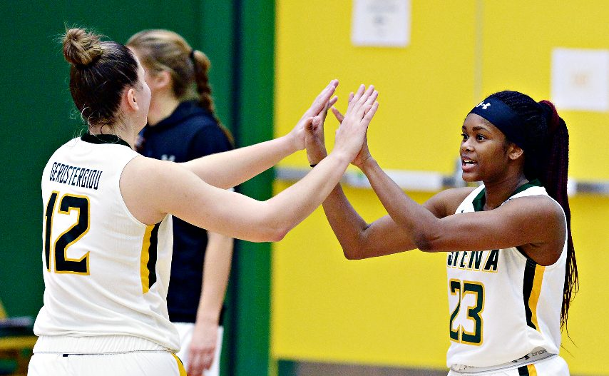 Siena women's basketball plays Sunday and Monday at Canisius. (Erica Miller)