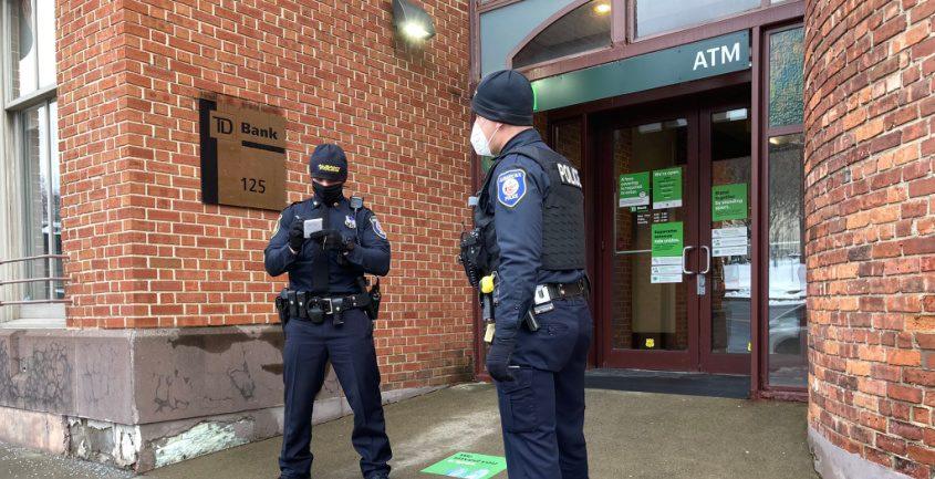 The scene Monday. Credit: Albany Police