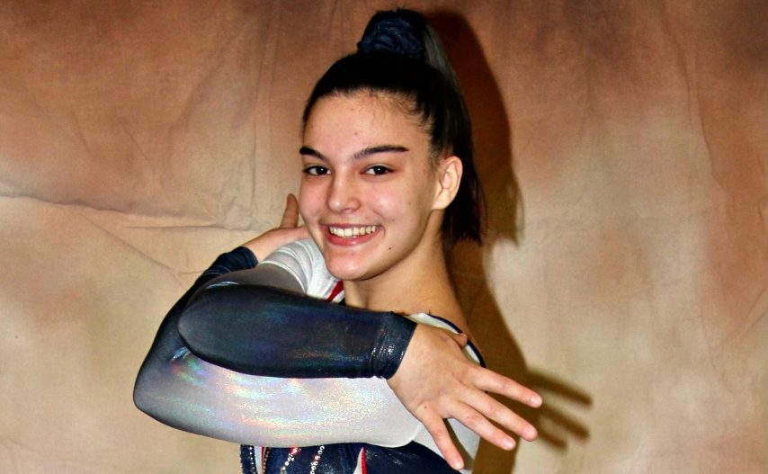 Saratoga Springs senior Sophia Damiano set a Section II vault record Sunday at a fundraising meet at World Class Gymnastics Academy in Latham.
