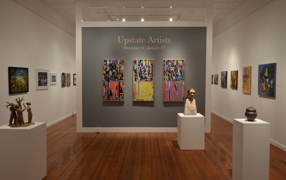 "An installation shot of ""Upstate Artists"" at The Laffer Gallery in Schuylerville."