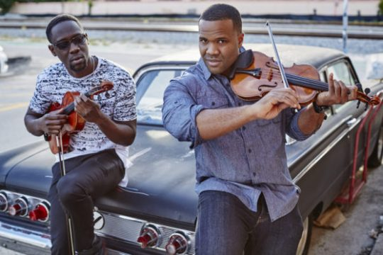 Wil Baptiste, left, and Kev Marcus of Black Violin.