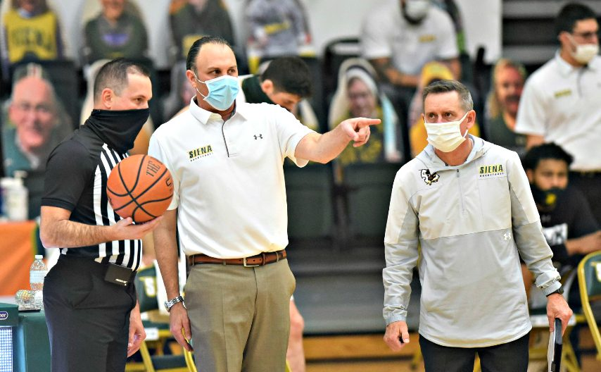 Siena men's basketball plays Fairfield this weekend. (Stan Hudy/The Daily Gazette)