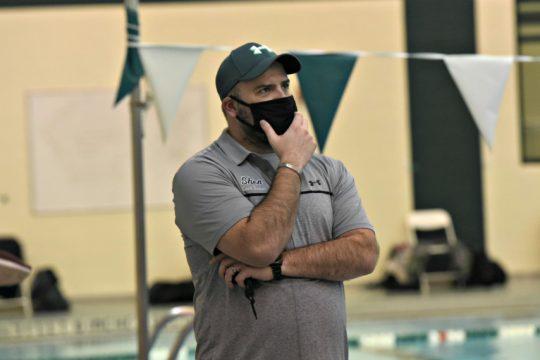 Shenendehowa coach Chuck Dunham is shown last week during his team's meet. (Stan Hudy/The Daily Gazette)