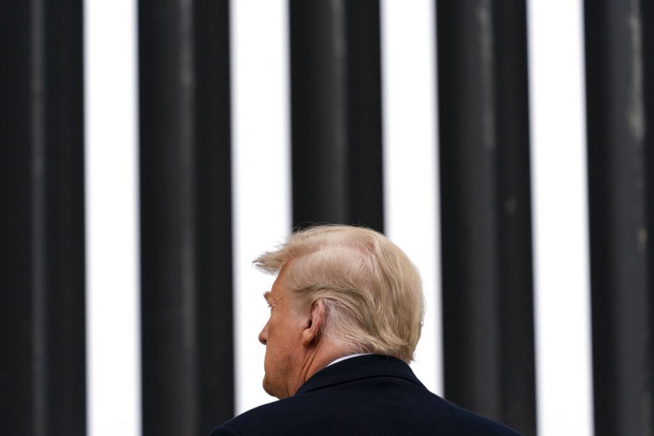 President Donald Trump tours a section of the U.S.-Mexico border wall Tuesday.