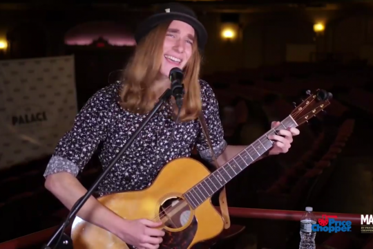 YouTubeSawyer Fredericks performs during a virtual concert at the Palace Theatre in Albany, streamed on Wednesday.