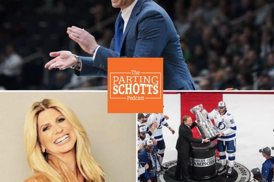 "Siena men's basketball coach Carmen Maciariello, FOX Sports and Westwood One NFL sideline reporter Laura Okmin and The Associated Press NHL writer Stephen Whyno are this week's guest on ""The Parting Schotts Podcast."""