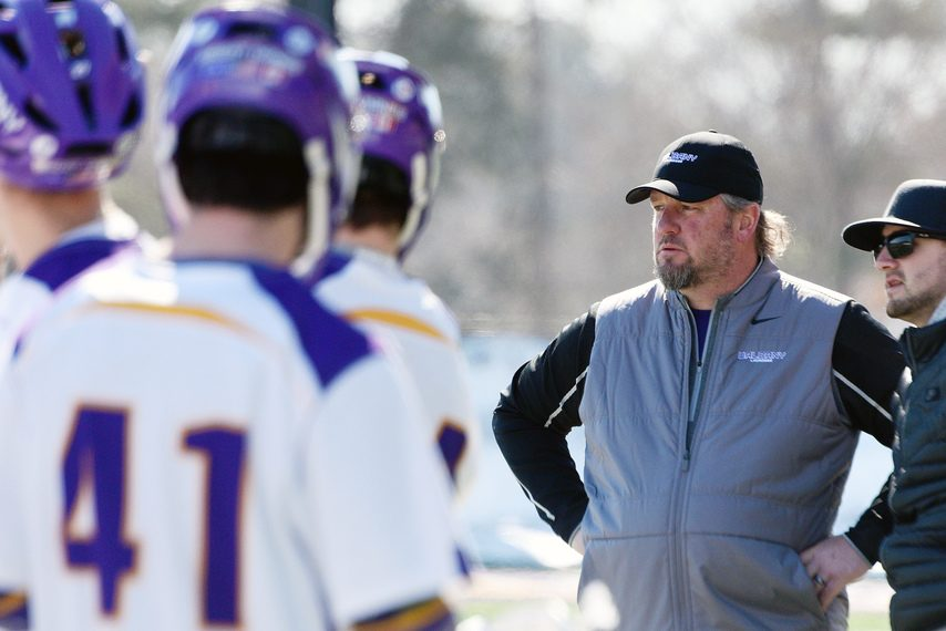 ERICA MILLER/GAZETTE PHOTOGRAPHER UAlbany men's lacrosse head coach Scott Marr is trying to piece together a schedule for the 2021 season.