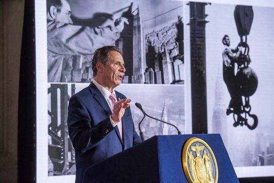 GOVERNOR'S OFFICEGov. Andrew Cuomo delivers the fourth part of his State of the State Address on Thursday.