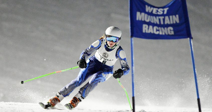 Ballston Spa's Sara Phelps competes during high school Alpine skiing's Niskayuna Invitational at West Mountain in Queensbury Wednesday