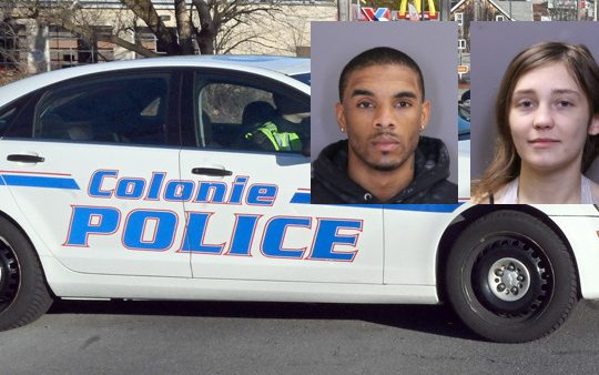 Khalil Q. Hankins and Ava C. Maddalla - Credit: Colonie Police (Insets); File (Background)