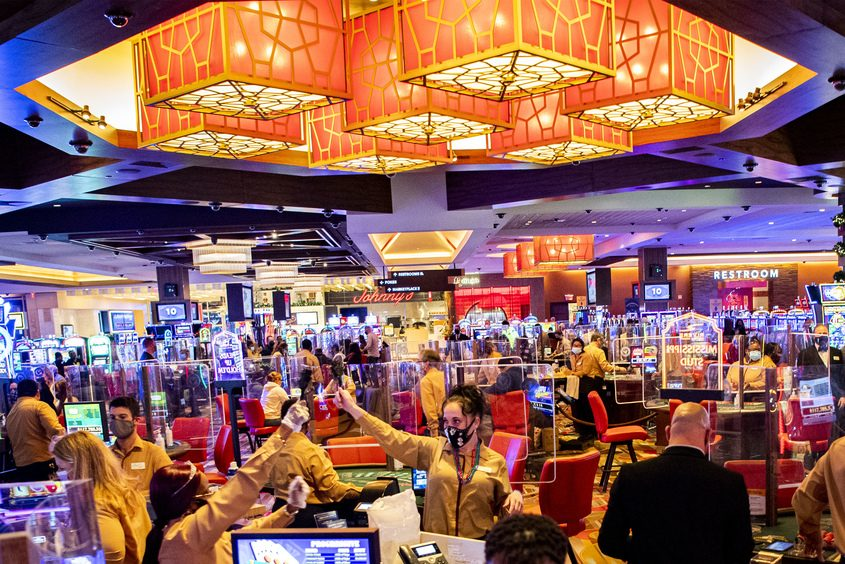 PETER R. BARBER/STAFF PHOTOGRAPHERRivers Casino in Schenectadyis shown on New Year's Eve.