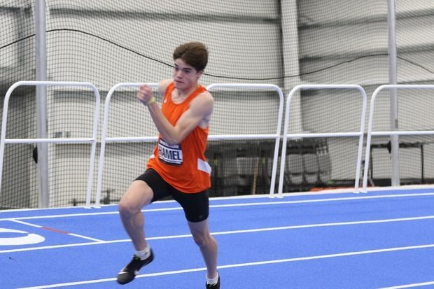 Photo providedBethlehem senior Tal Hamel recently set his school's 300-meter indoor record at the VA Showcase at the Virginia Beach Sports Center.
