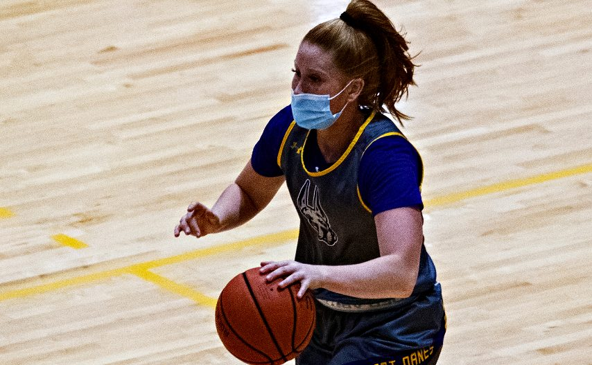 Grace Heeps is shown during a preseason practice at UAlbany. (Gazette file photo)