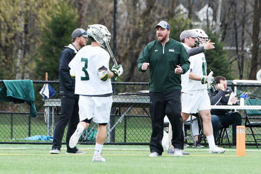ERICA MILLER/GAZETTE PHOTOGRAPHER Siena men's lacrosse head coach Liam Gleason's team is scheduled to open the 2021 season on March 6.
