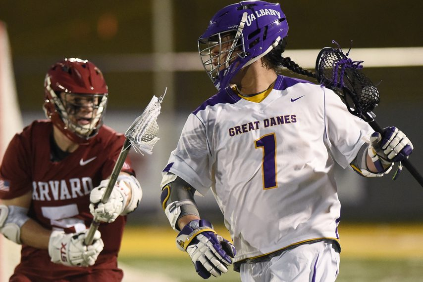 PETER R. BARBER/THE DAILY GAZETTEUAlbany's Tehoka Nanticoke was named to the USILA Preseason All-American honorable mention on Thursday.