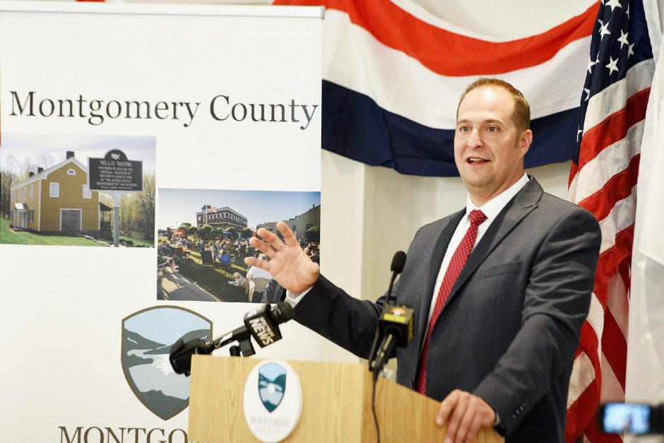 County Executive Matt Ossenfort speaks during the Montgomery County State of the County Address at The Sentinel of Amsterdam in Amsterdam on Thursday, April 25, 2019.