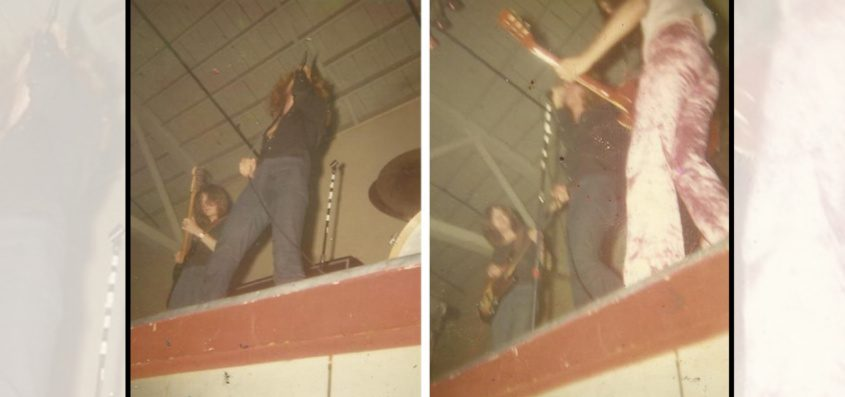Diane Launsbach-Deubel is among the fans who attended a performance by British rock band Led Zeppelin at Schenectady's Aerodrome in August of 1969. She took these photographs at the show.Seen at left are singer Robert Plant and guitarist John Paul Jones. At right are Jones, Plant and guitarist Jimmy Page (in pink pants).
