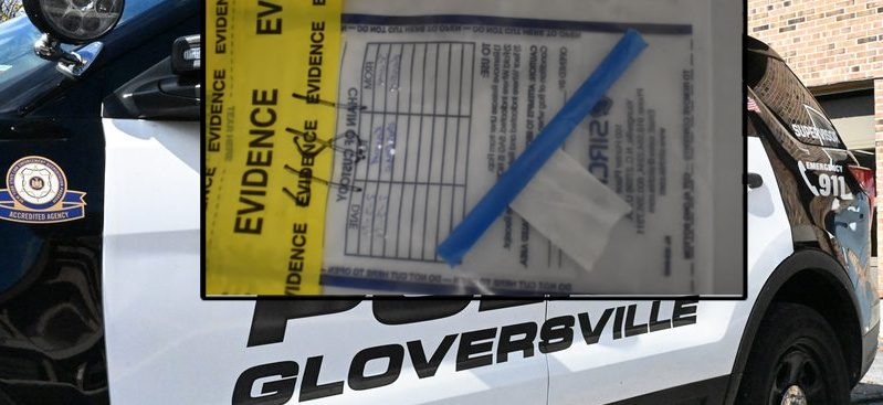 A bag recovered at one of the Gloversville scenes (inset) Credit: Gloversville Police (inset) File (Background)