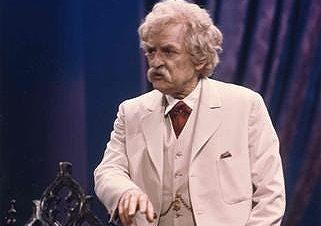 Hal Holbrook as Mark Twain. (Tribune News Service)