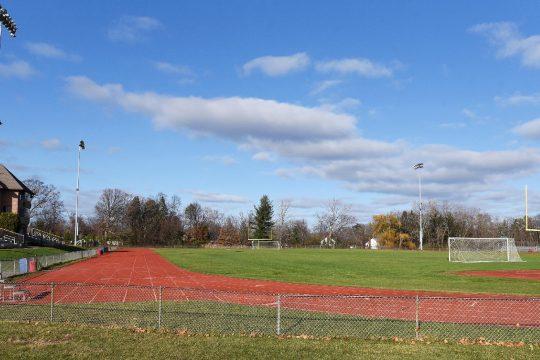 The football field and track at Niskayuna High School in Niskayuna are seen on Nov. 18.