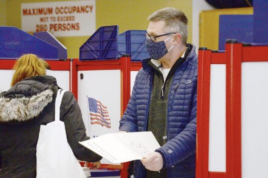 Niskayuna Central School District residents vote ona capital project proposal for the district at Niskayuna High School on Tuesday.