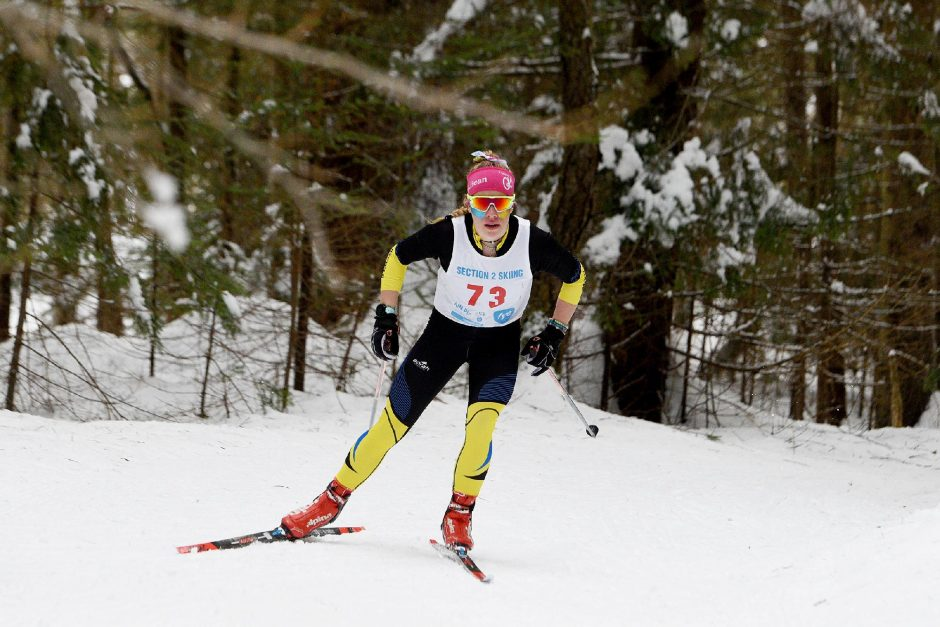 Mayfield's Madison Relyeawon the Section II Nordic Ski League Championships at Gore Mountain on Wednesday.
