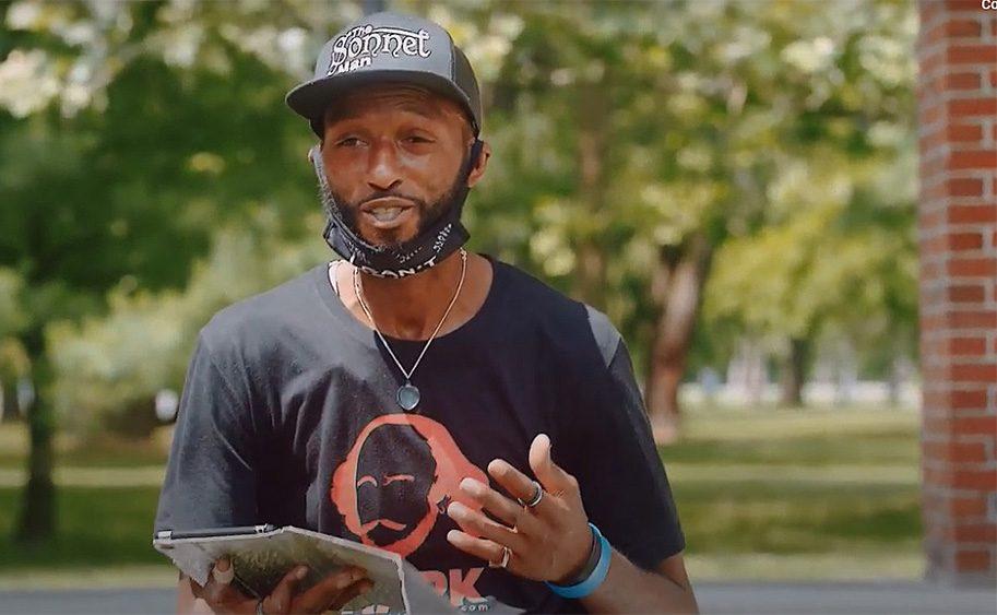 """Devon Glover is seen in the video """"Sonnet Man - Episode 1."""""""