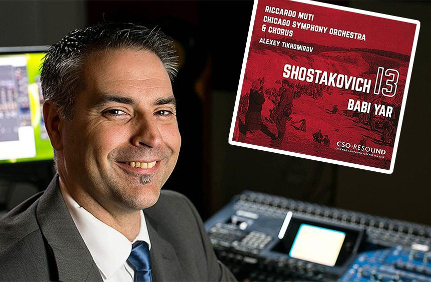 Charlie Postreceived his first Grammy nomination for his work as sound engineer on Chicago Symphony Orchestra's 2019 recording of Shostakovich's Symphony No. 13. (Courtesy CSO)