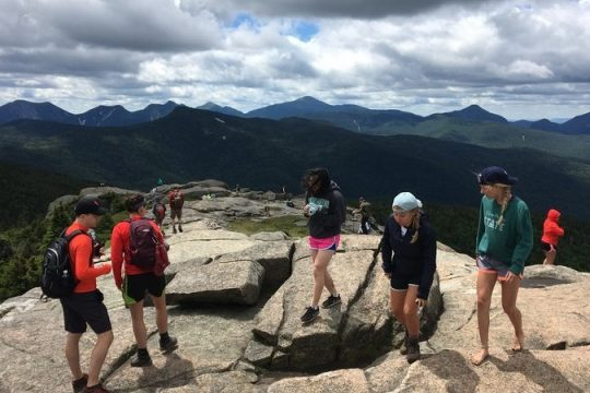 The summit of Cascade Mountain in the Adirondack High Peaks.