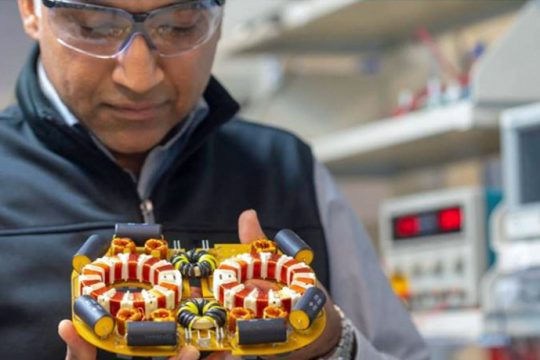 Satish Prabhakaran is shown at GE Research in Niskayuna, where he is a tech leader in hybrid electric flight research.PHOTO COURTESY GENERAL ELECTRIC